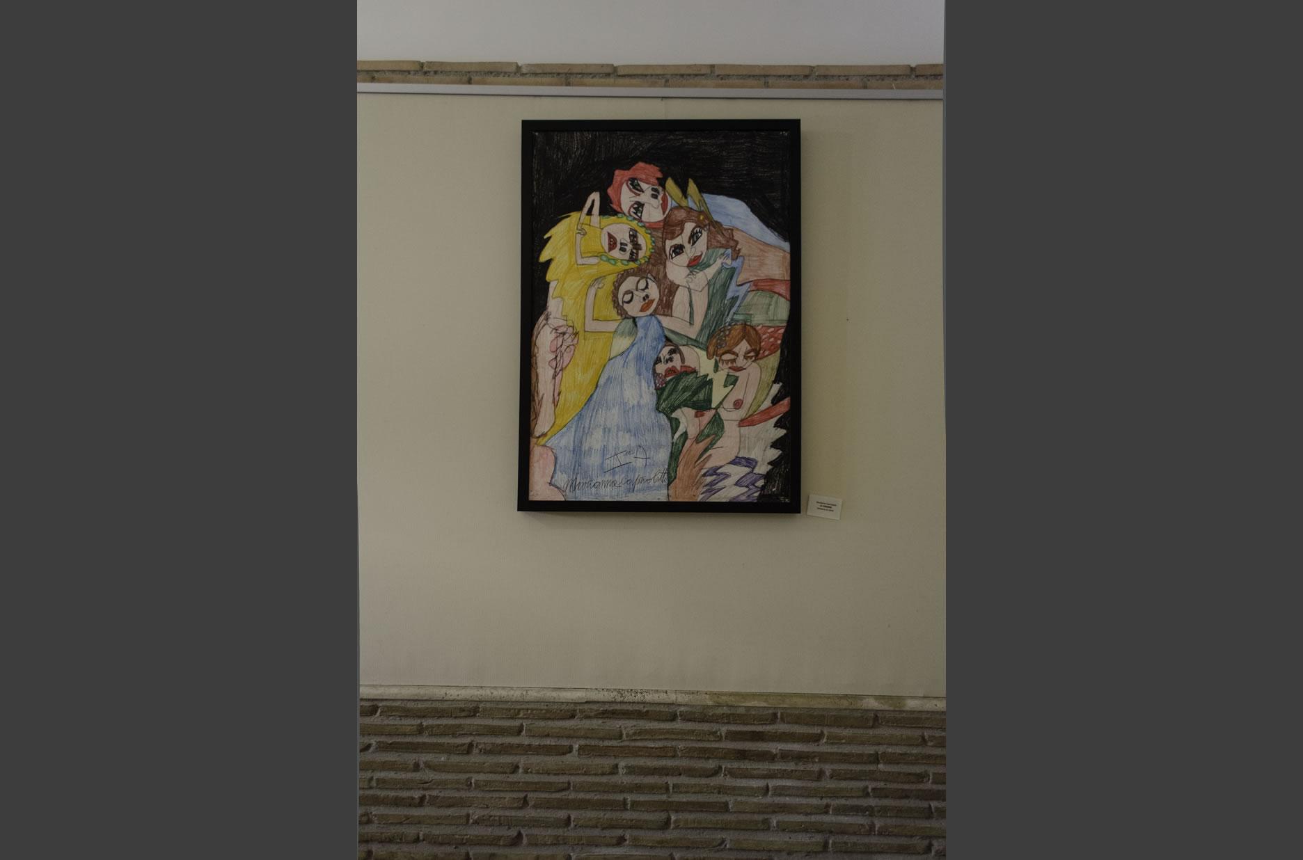 Mariana Caprioletti, artista con disabilità uditiva, ha reinterpretato un'opera di Klimt
